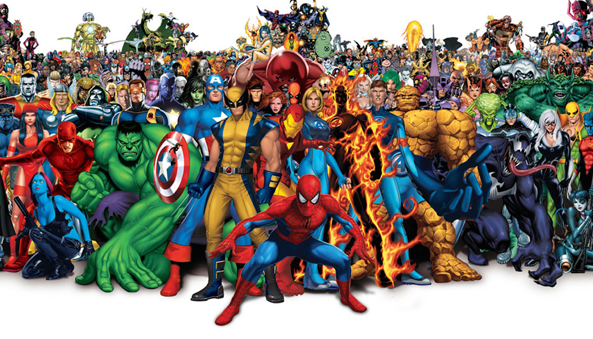 Visuel de super héros et super héroïnes