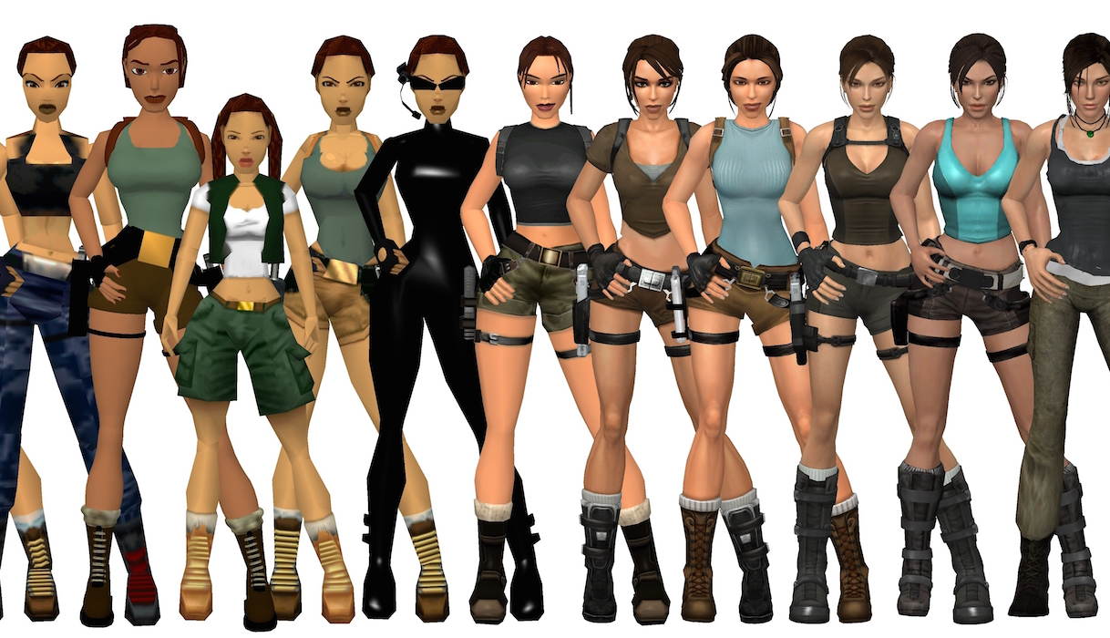 Evolution héroïne de jeux vidéos Lara Croft