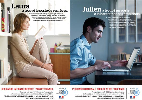 A gauche de l'image, une jeune femme assise lit un livre. A droite, un homme est assis devant son ordinateur.