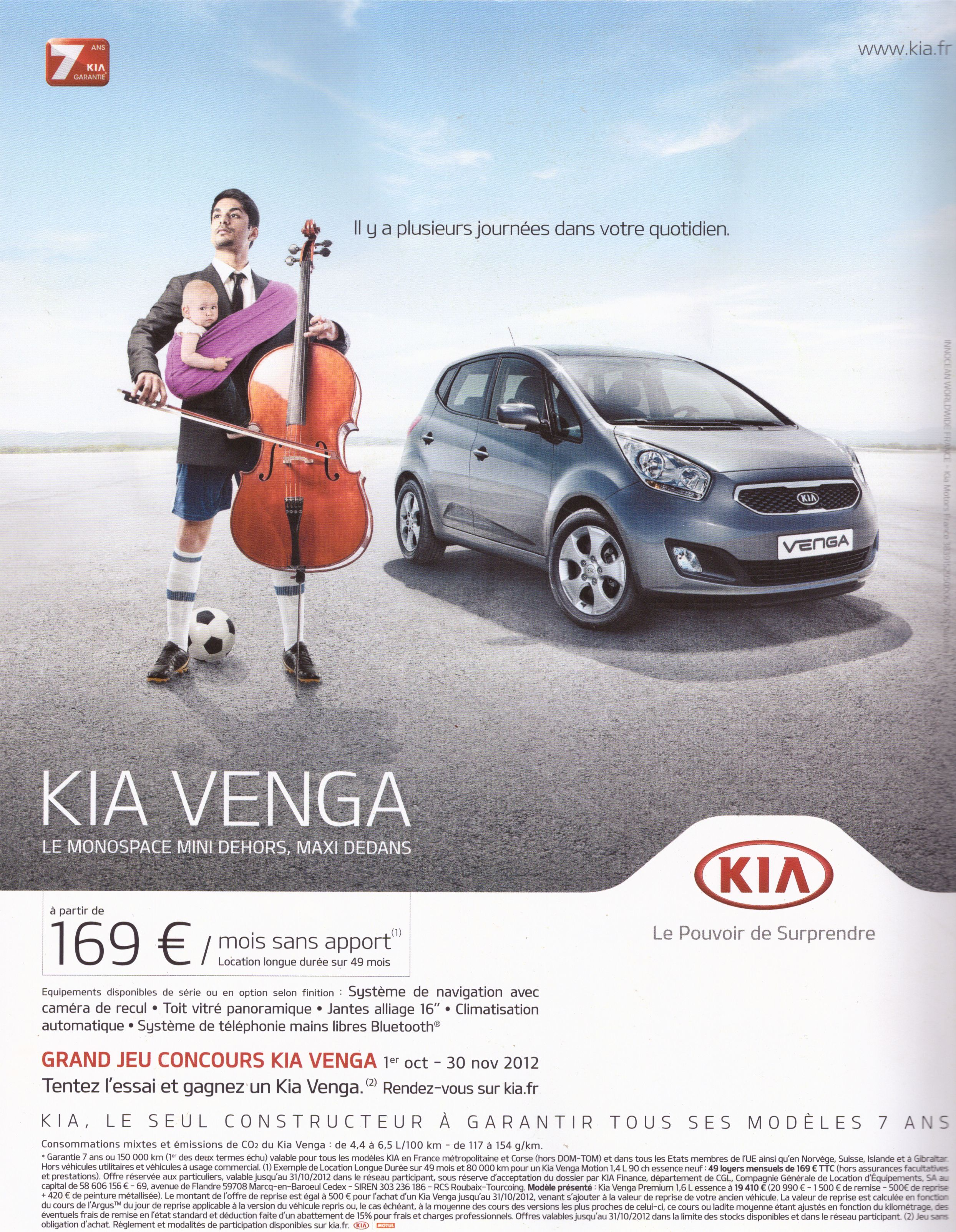 a annoter publicit pour la voiture kia venga genrimages. Black Bedroom Furniture Sets. Home Design Ideas